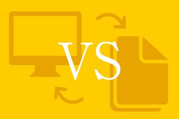 Web vs DTP